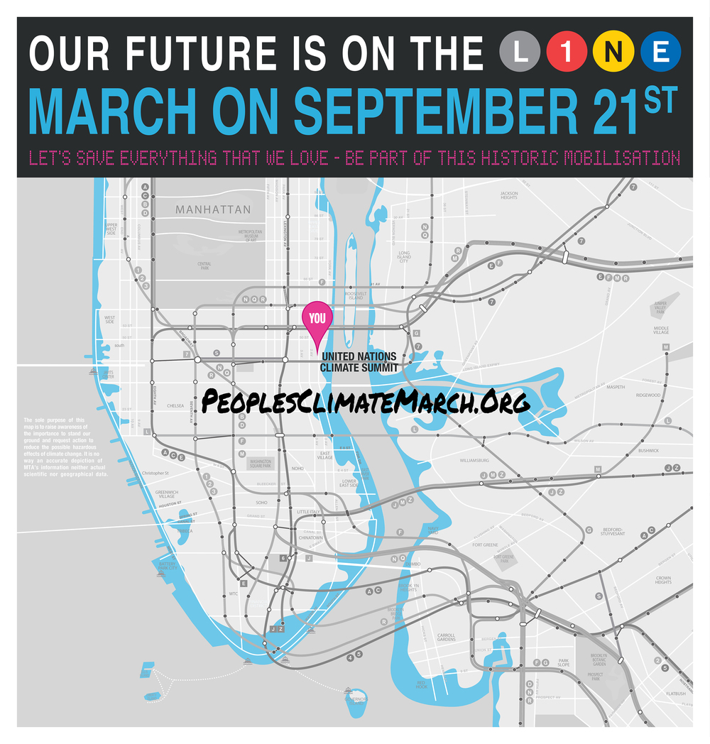 """""""Our future is on the line."""" Artists: Doel Fresse & Brenda Martinez"""
