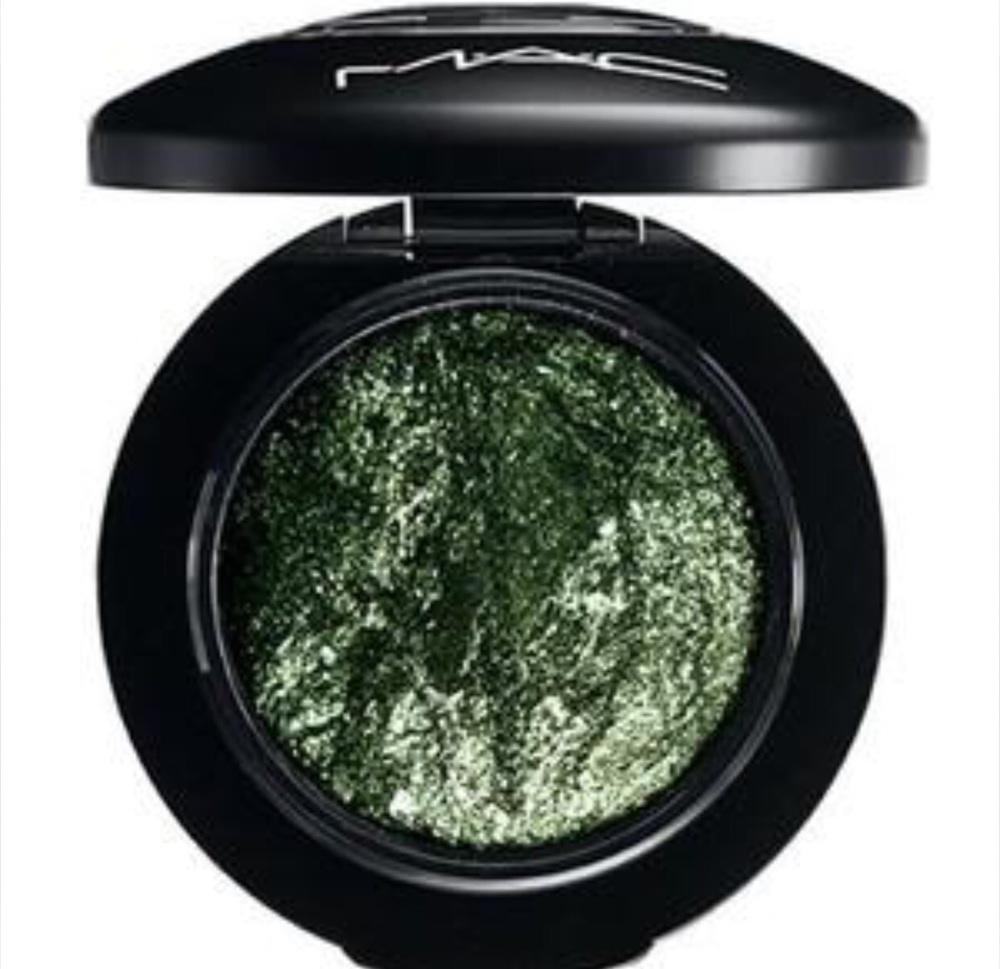 Smutty Green From Mac  Apply to inner corners to outside corners! Want to make it super intense!!! Dampen your brush and pat it on!!