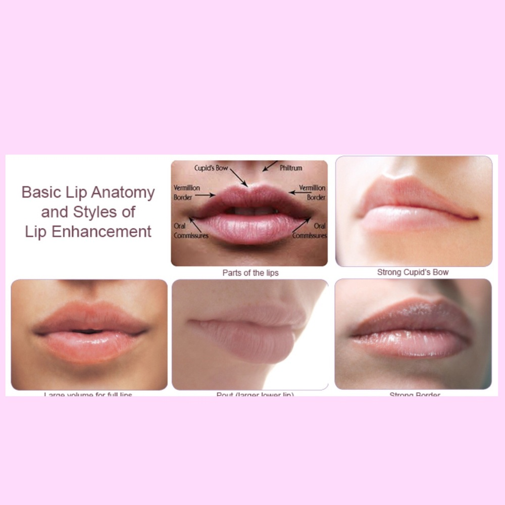 Here are some ideas of different lip shapes and pouts:)