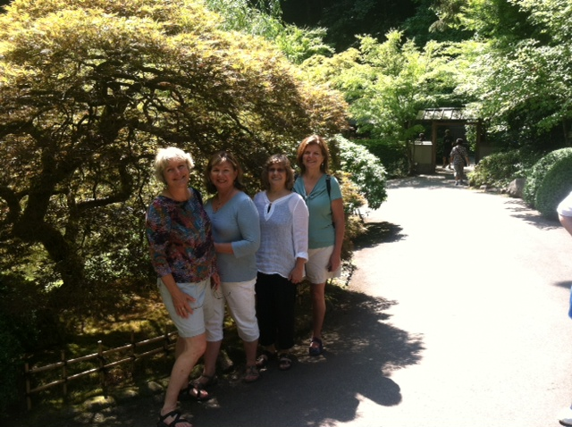 Gals at Portland, OR Japanese Garden