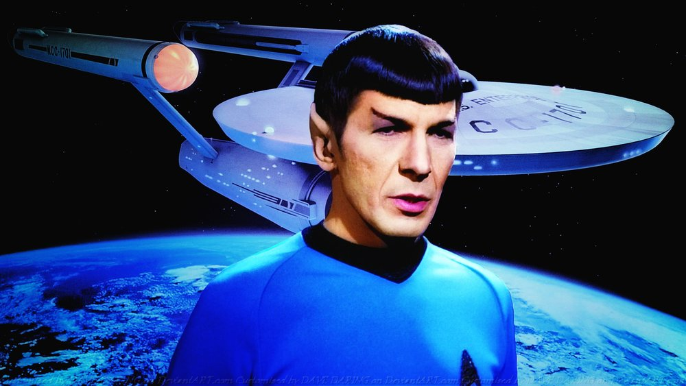 ( Mr. Spock and the Enterprise -- All Rights Reserved and Copyrights Acknowledged))