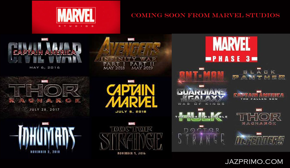 Upcoming Marvel Films