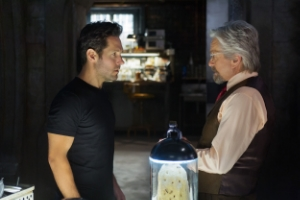 Paul Rudd and Michael Douglas in the Ant-Man film.
