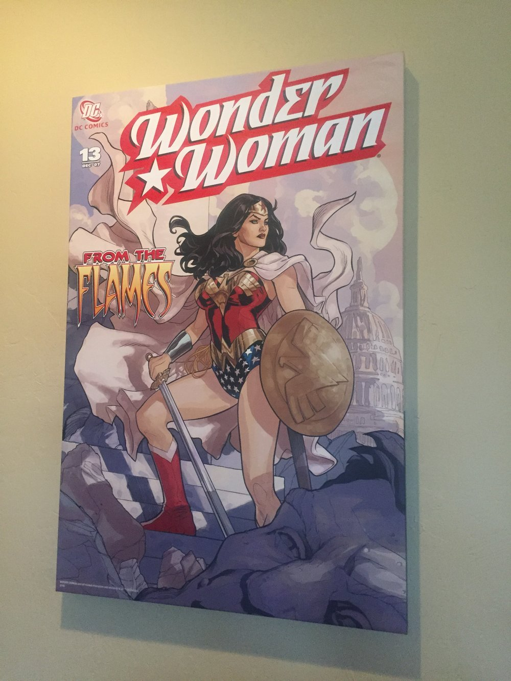 [Wonder Woman Picutre in Jaz's Home -- PHOTO COPYRIGHT 2016 BY JAZ PRIMO]