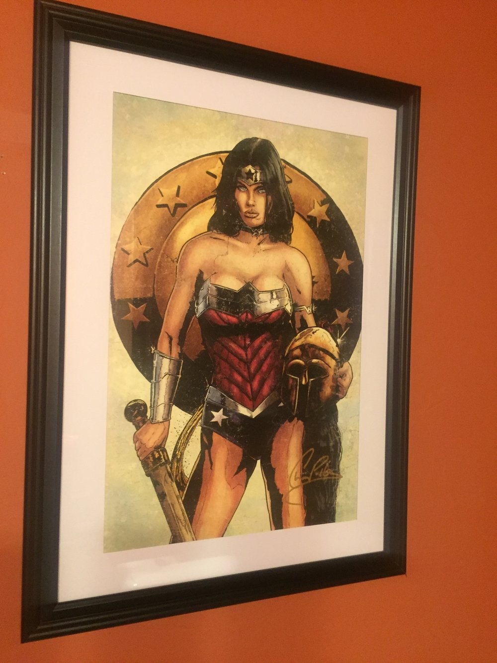 [ANother Wonder Woman Picutre in Jaz's Home -- PHOTO COPYRIGHT 2016 BY JAZ PRIMO]
