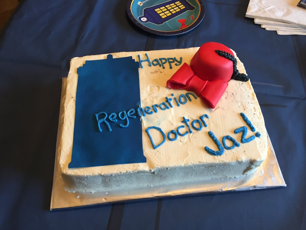 (Jaz's Doctor Who Birthday Cake -- PHOTO COPYRIGHT 2017 BY JAZ PRIMO)
