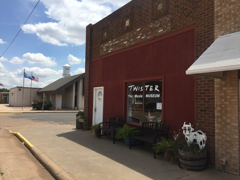 """The Twister """"The Movie"""" Museum in Wakita, Oklahoma."""