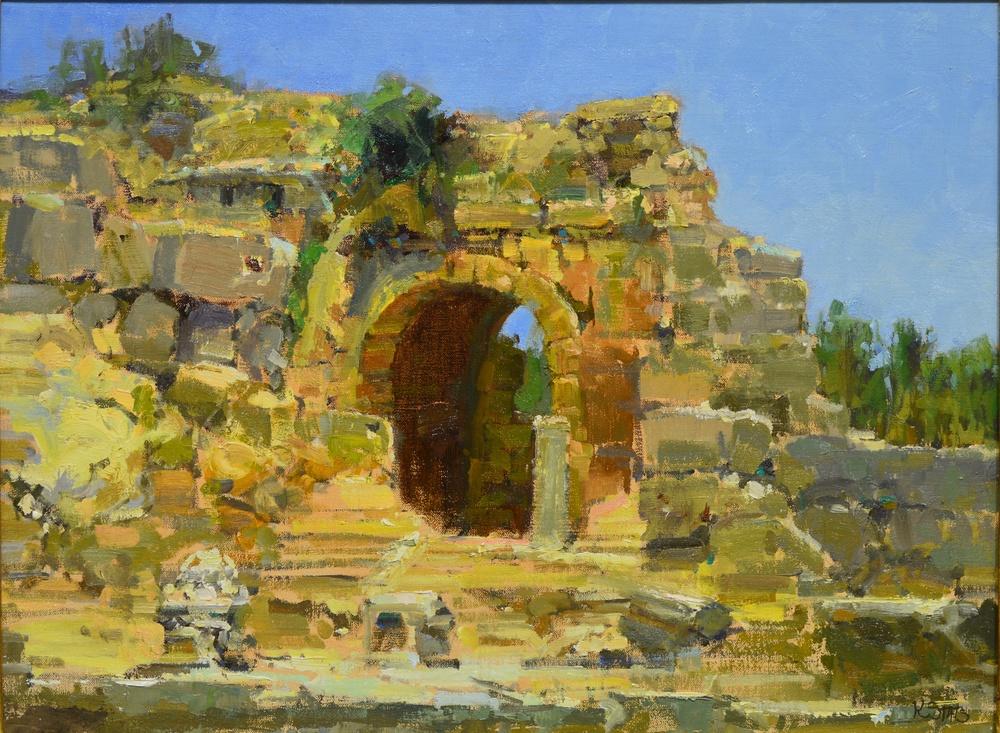 Stats 18x23 Ruins at Perge Turkeyi II $5400.JPG