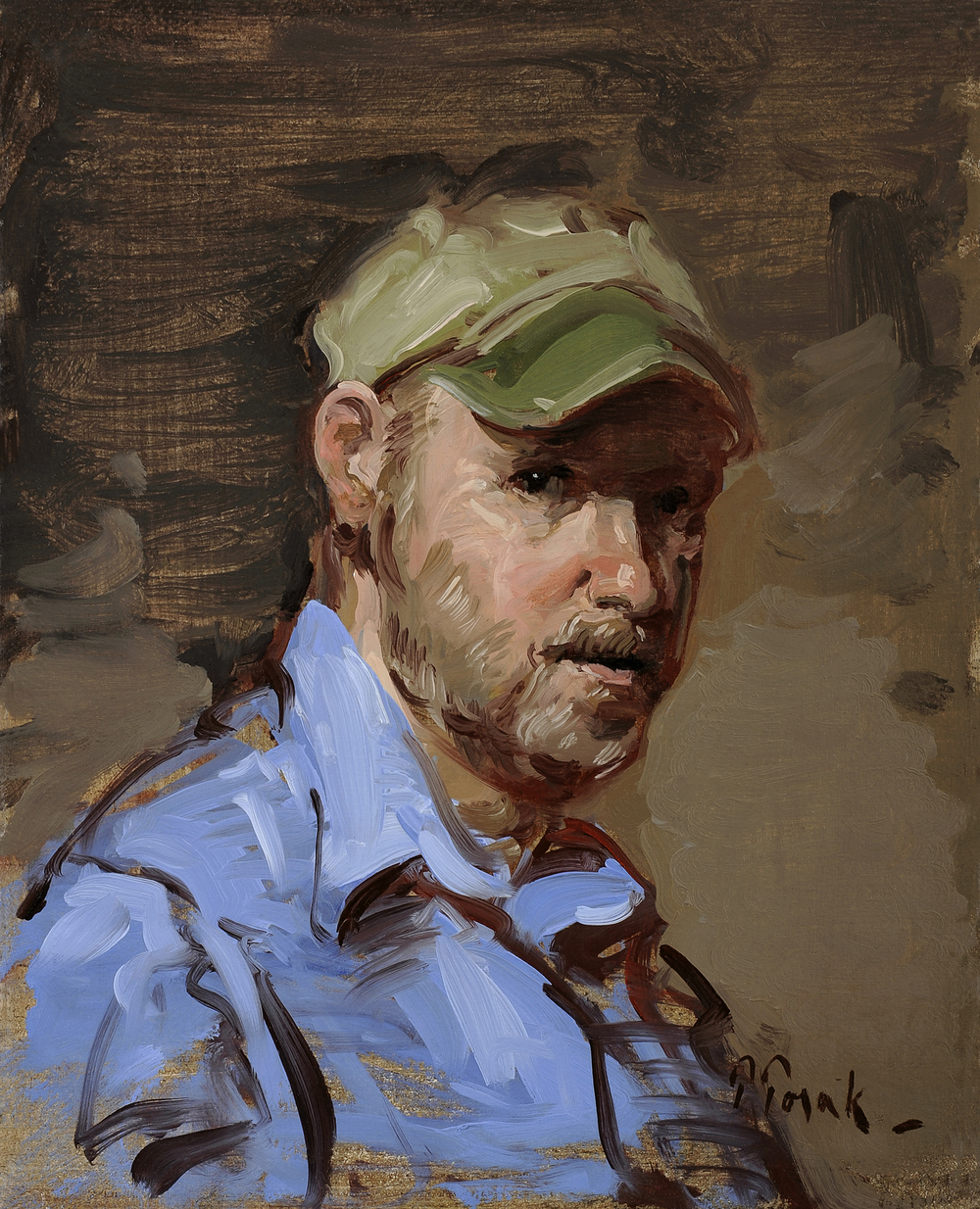 Torak_Man with a Cap_10x8_Oil on linen_$2400.jpg