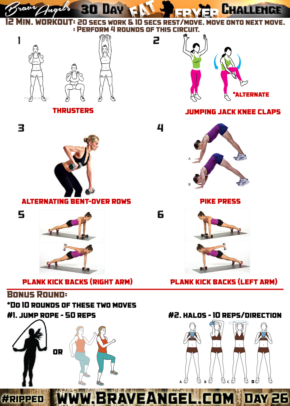Day 26 WOD - #ripped — Warrior Girl Fitness
