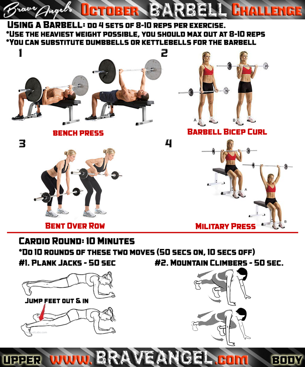 upper body barbell workout