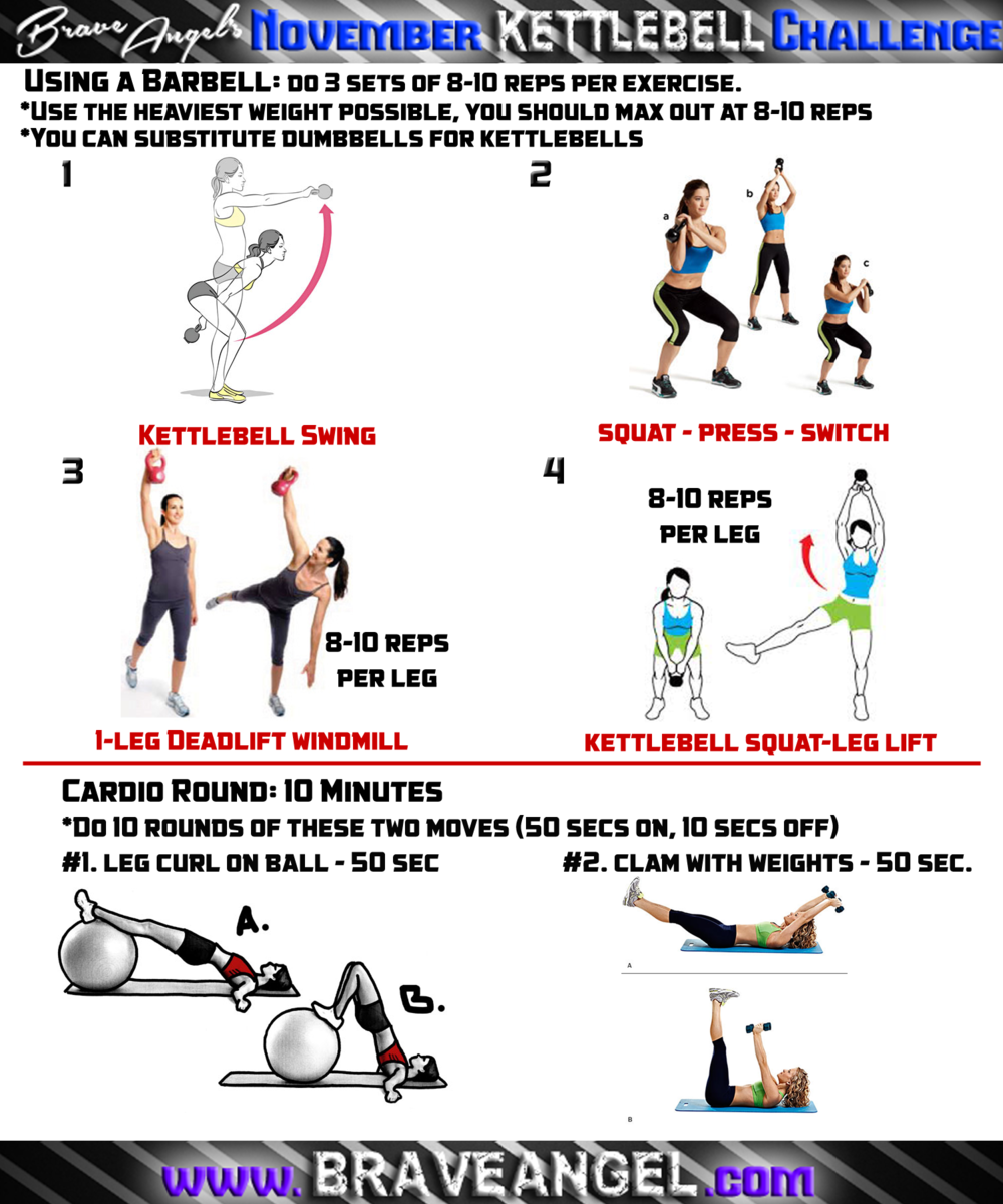 New Kettlebell Exercises For Your Workout Routine: 20 Day Kettlebell Challenge