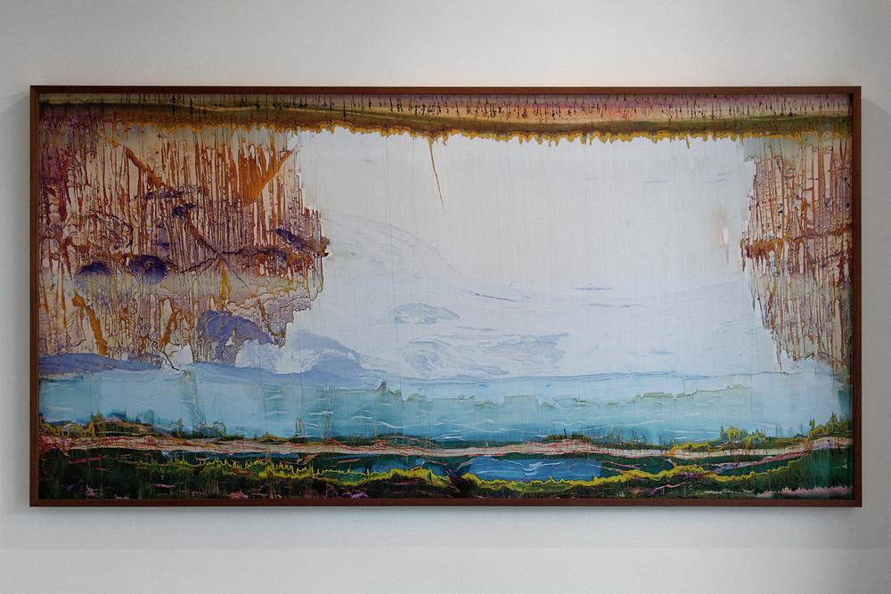 La Théorie de la Terre Creuse  - 2014 - 110x220cm - exemplaire unique