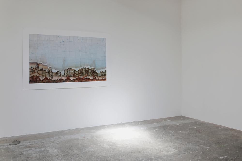 Paysage 41  - 80x130 cm - 2007 - vue d'exposition à  1M3