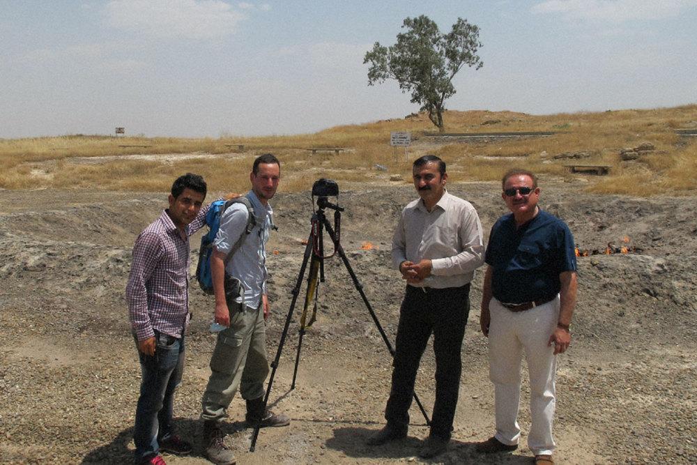 de gauche à droite, Hiwa, moi, Kak Bakr et Kak Majid