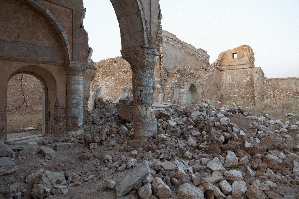 Les ruines de la Cathédrale Chaldéenne