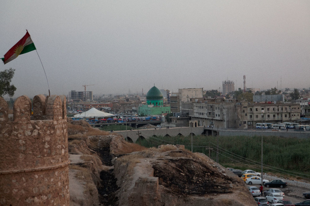 Kirkouk, vue de la citadelle