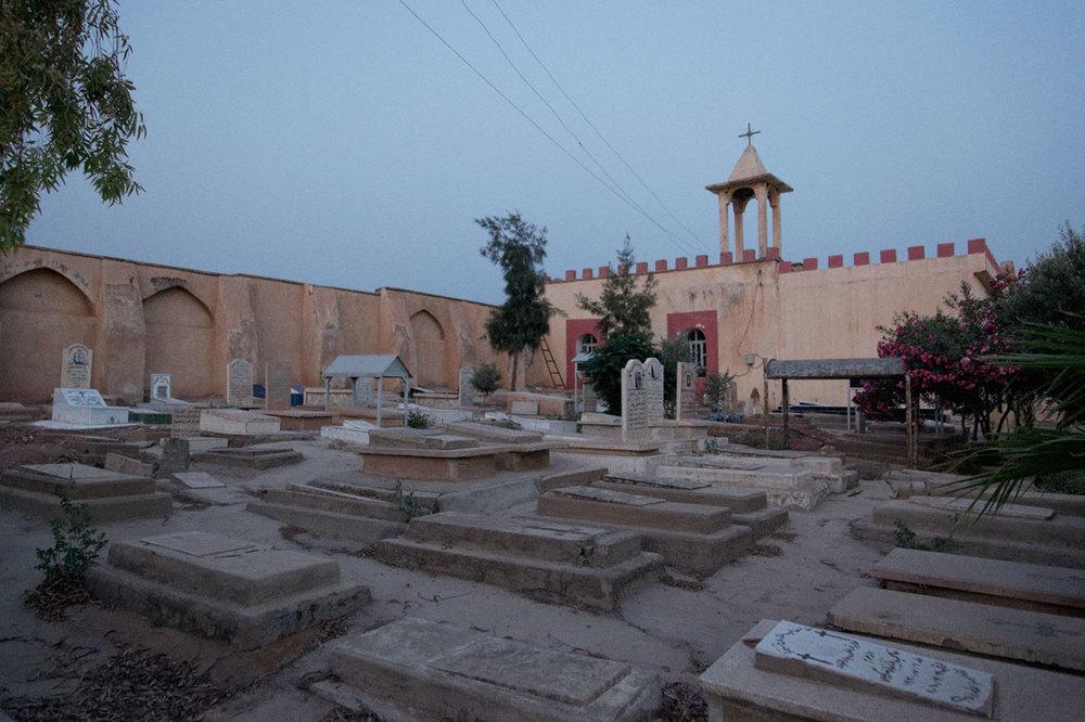 L'église rouge de Kirkouk, appelée ainsi à cause du sang des fidèles répandu