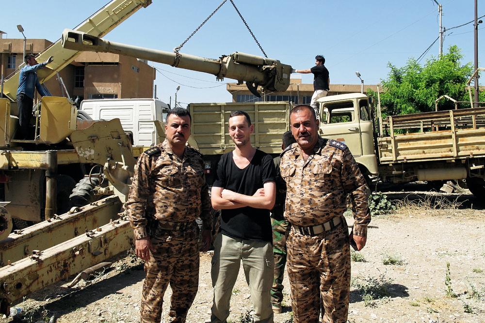 avec des généraux des forces Peshmerga de Kirkouk