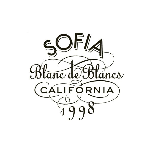 SOFIA Blanc de Blancs label lettering