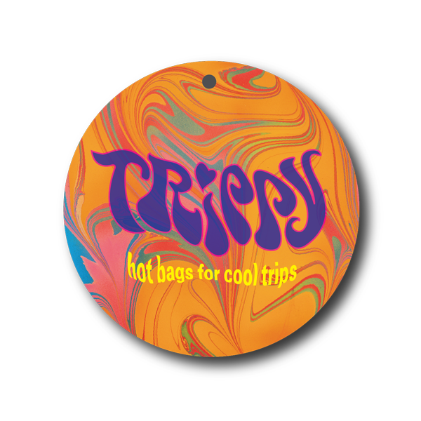 Trippy logo and hangtag design