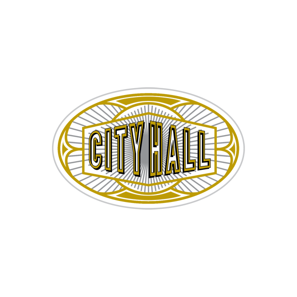 City Hall Restaurant Logo Emblem