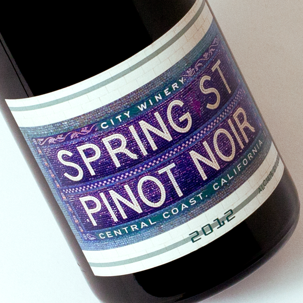 City Winery Spring St wine label