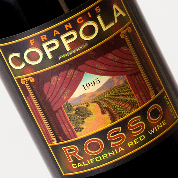 Francis Coppola Presents ROSSO wine label design
