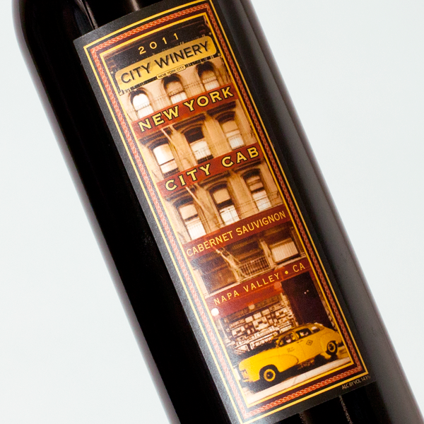 City Winery New York City Cab wine label design