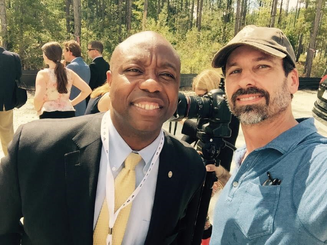 A 'senator selfie' with Senator Tim Scott.