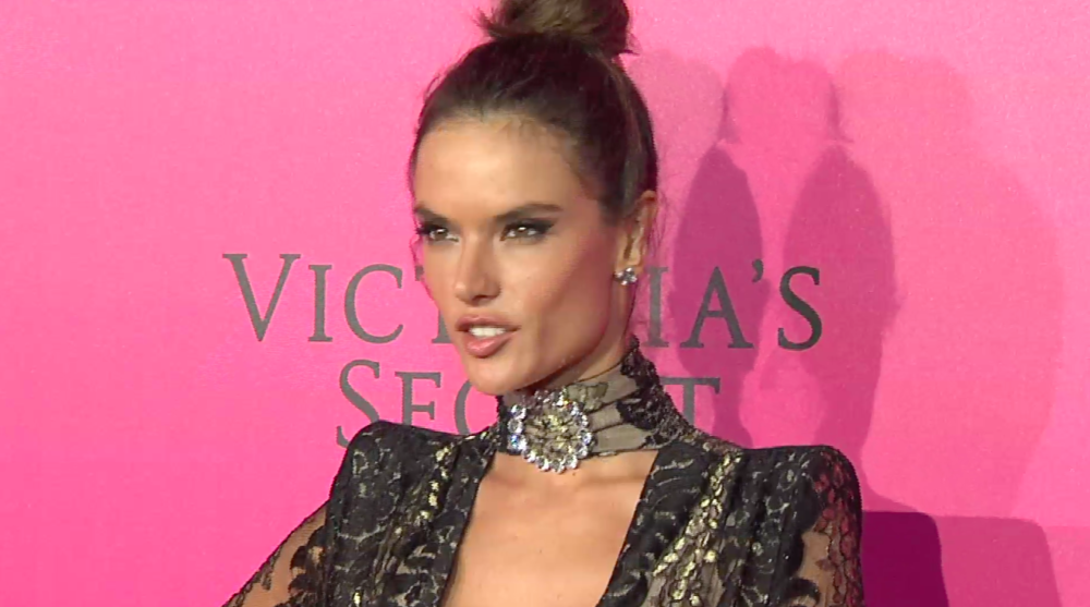 VS Model Alessandra Ambrosio on the red carpet after the show