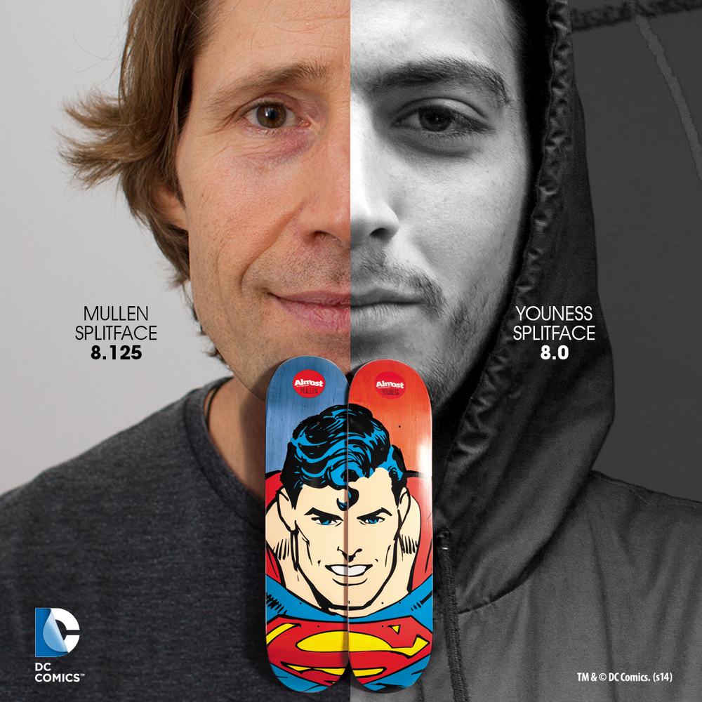 Almost_Skateboards_DC_Superhero_Split_Face_Series_Superman_Rodney_Mullen_Youness