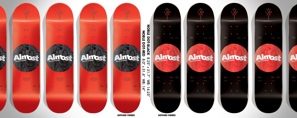 Almost Skateboards Noble Dot Logo board