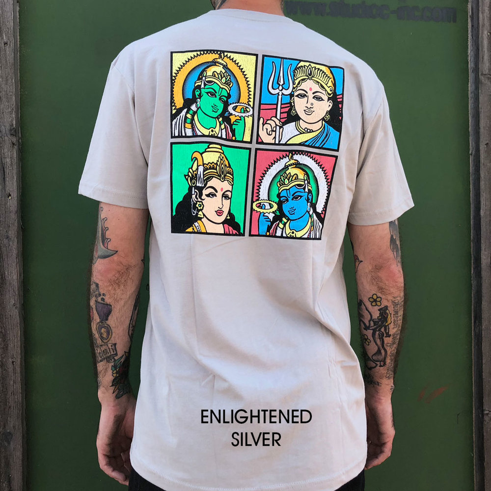 Almost_enlightenment_silver grey skate tee