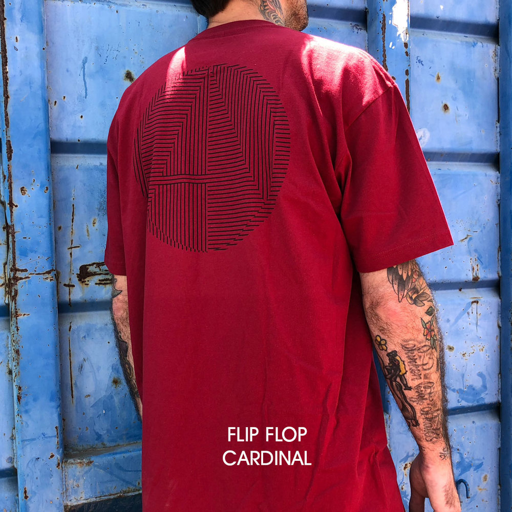 Almost_skateboards_tee_shirt_flip flop logo burgundy