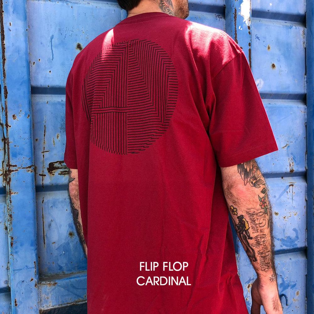 Almost_skateboards_tee_shirt_flip flop logo burgundy
