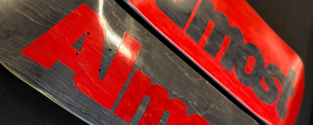 Almost skateboards ultimate logo board split veneer