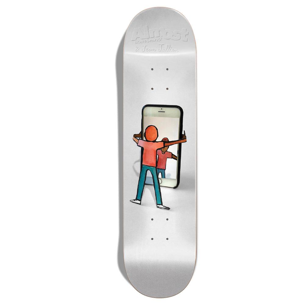 Almost Skateboards Jean Jullien cell phone iphone selfie deck
