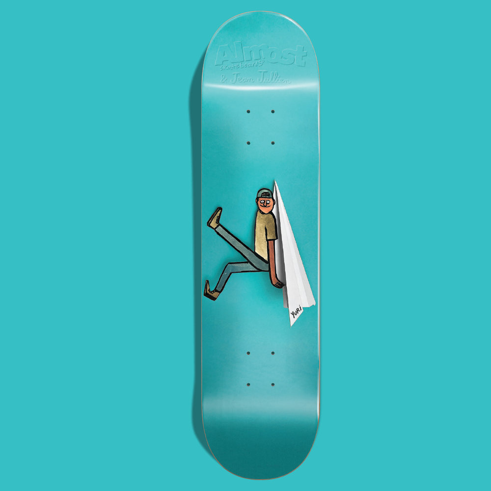 Almost skateboards jean jullien yuri facchini paper airplane plane