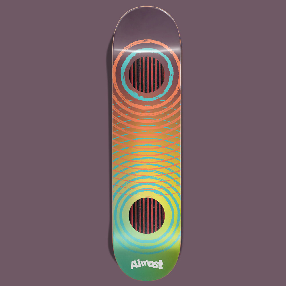 Almost_Skateboards_Impact support construction brown green orange deck