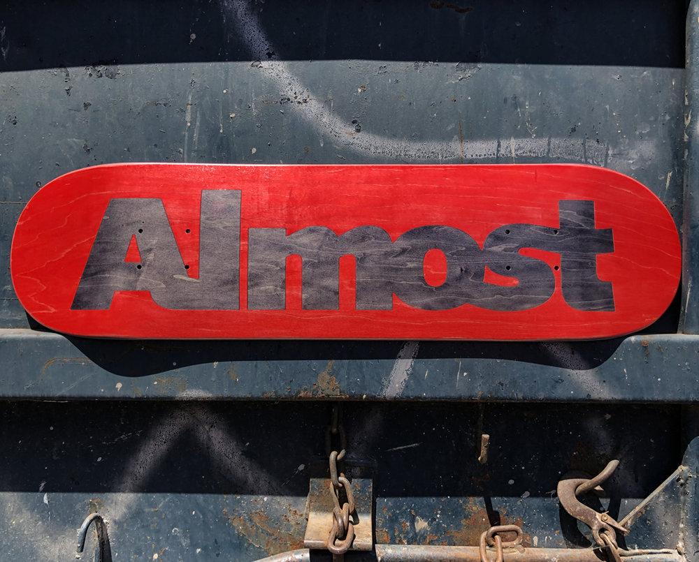 Almost_Skateboards_ultimate logo wood only skate deck