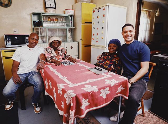 Tea at @trevornoah's grandma's house.