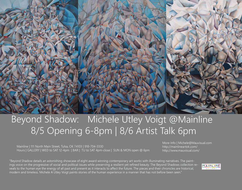 Beyond Shadow | Solo Exhibition at Mainline Gallery in the Brady Art District | Tulsa, Ok | August 2016