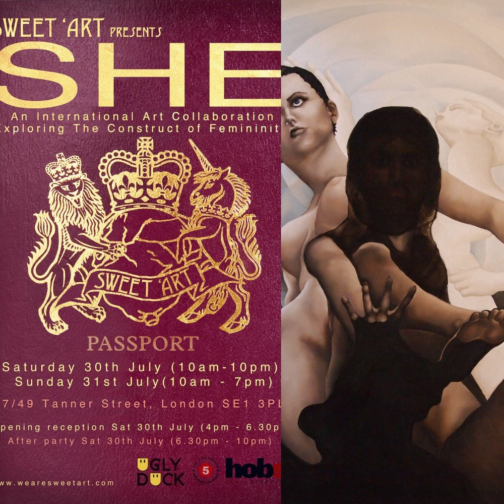 Sinu Ina at SHE exhibition, Sweet Art London.
