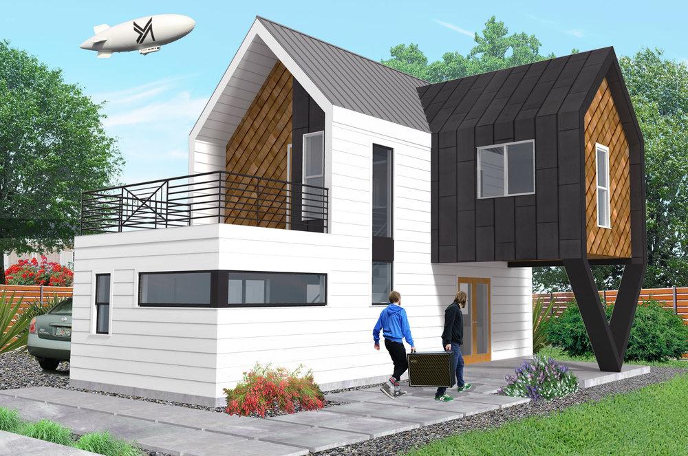 ADU Concept  - rendering by Elijah Montez