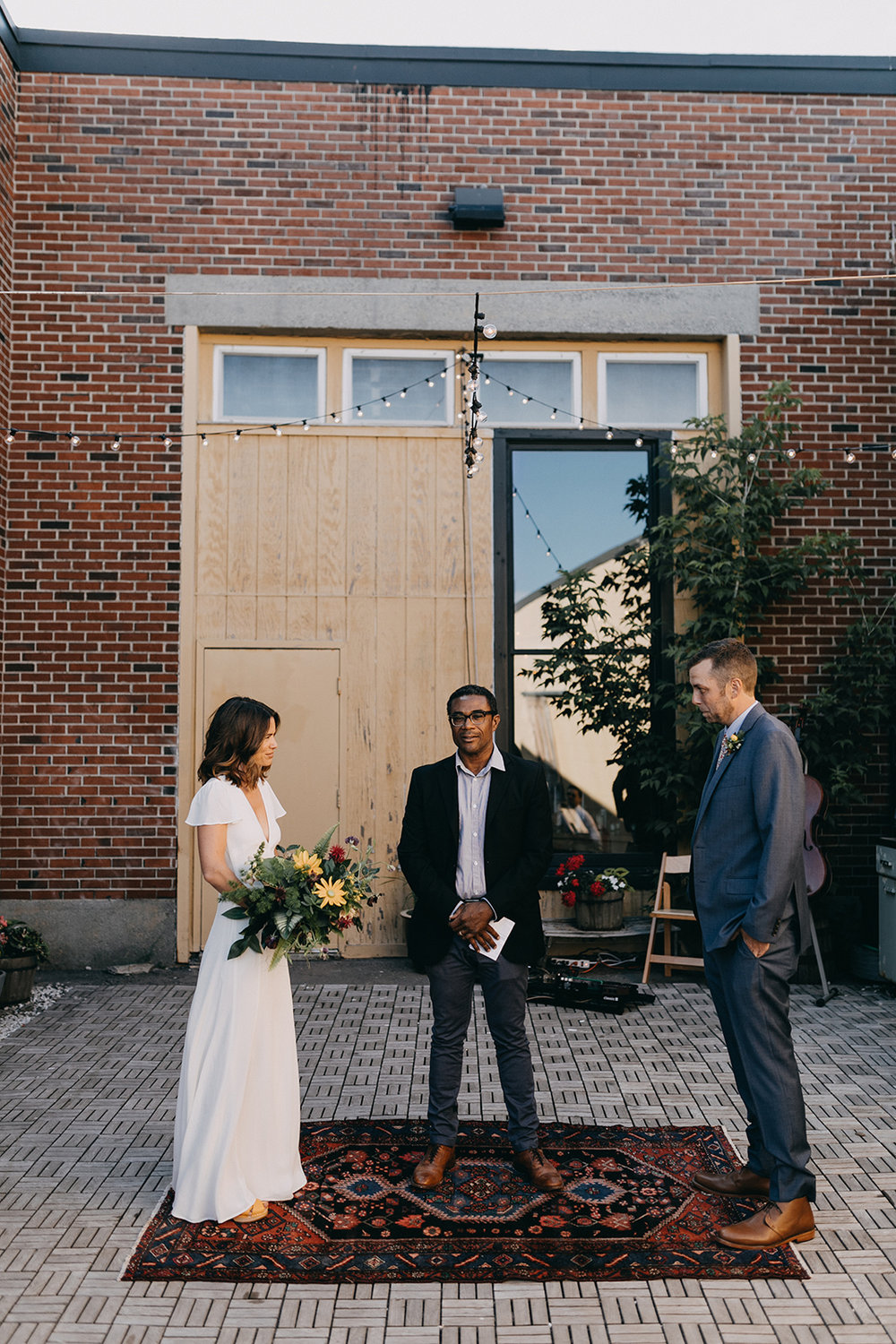 Here's how we got married, on a Thursday night in Portland, ME right in the middle of wedding season. Credit: Emily Delamater (2018)