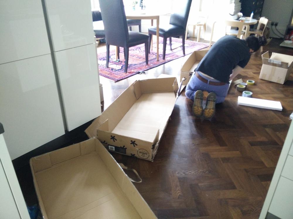 Making Cardboard Fort