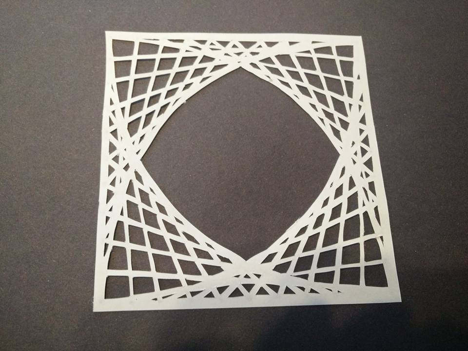 Paper Cutting Maths Art