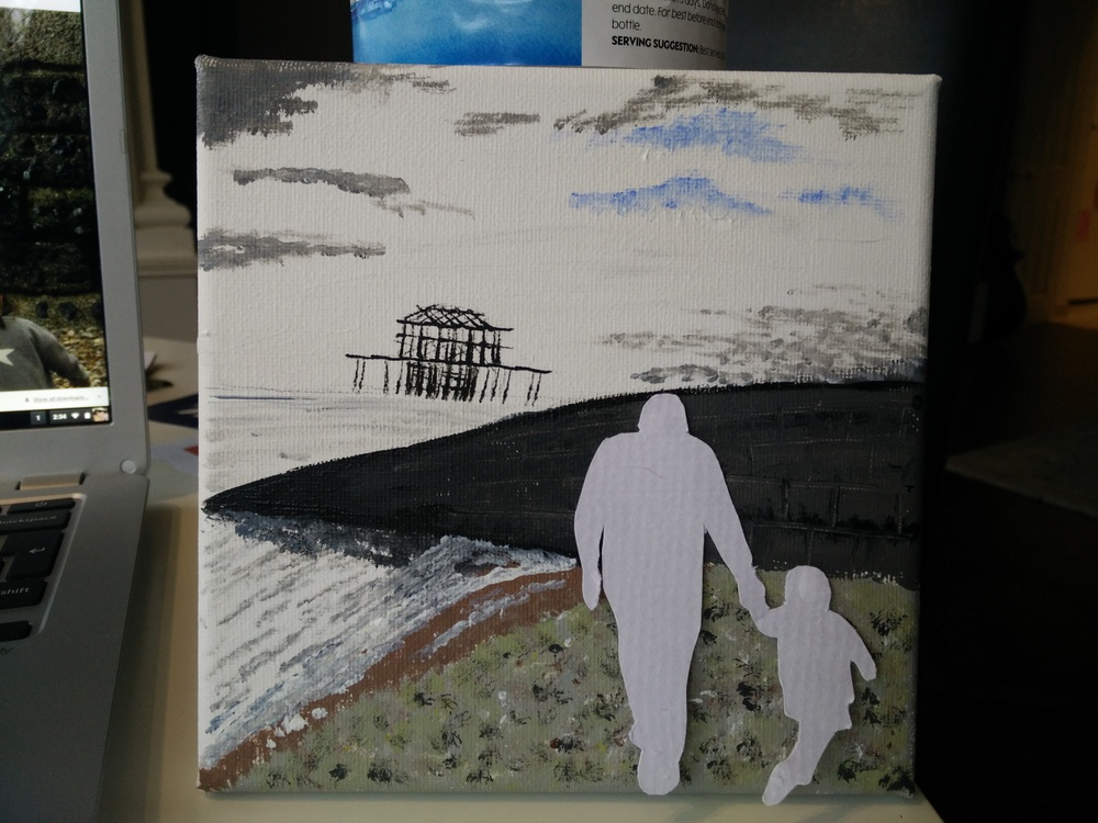 hampstead mums brighton canvas acrylic finished