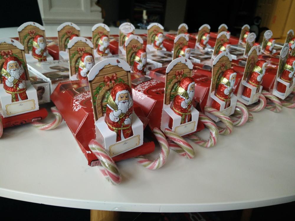 candy sleigh santa diy hampstead mums - Christmas Candy Sleigh